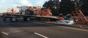 Man Dies After 18 Wheeler Cargo Falls Off Trailer on I-45 Near Madisonville