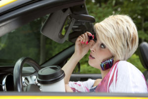 Distracted Driving Parking Lot Accidents