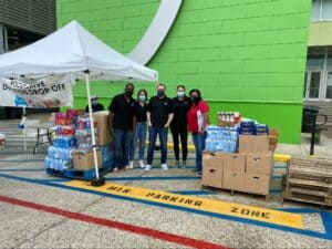 amaro law firm donates to local food bank